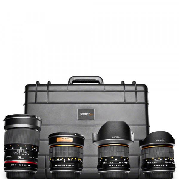 walimex pro Objektiv Set All Star für Canon EF