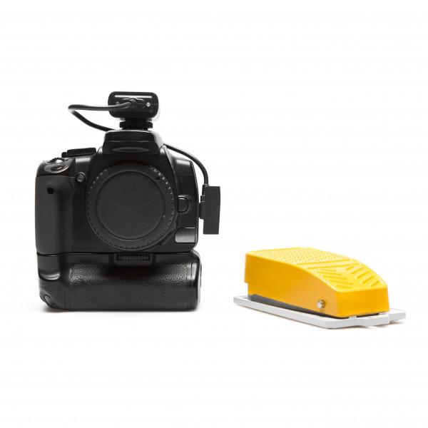 Kabelloser Kamera Fernauslöser mit Fussschalter / Trittschalter Canon RS-60E3