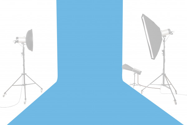 Tetenal (Savage) Hintergrundkarton 2,72x11m, Blue Jay