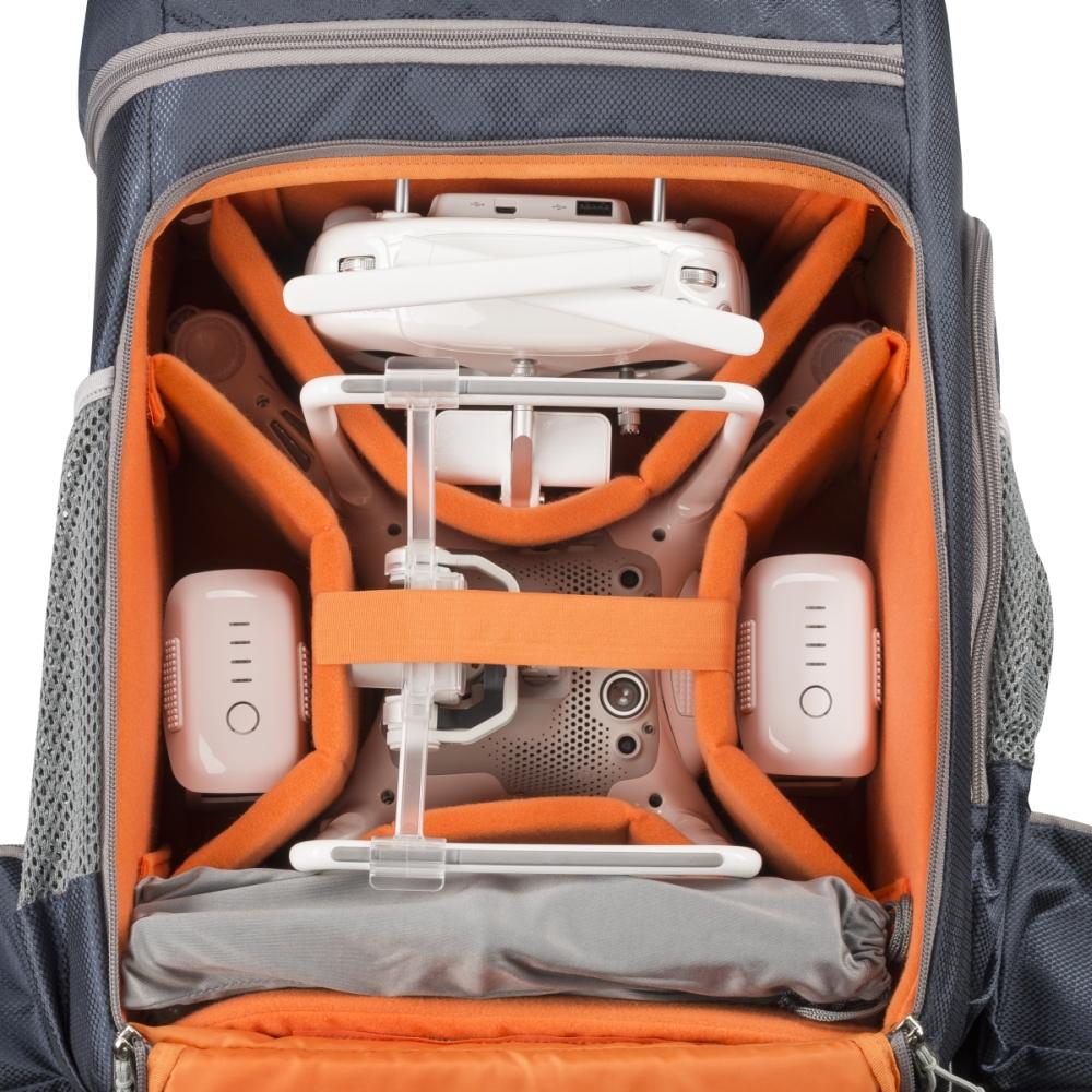 Mantona elementsPro Cámara-y dronebag compacto y ligero compartimento para el portátil