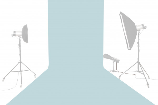 Tetenal Hintergrundkarton 1,35x11m, Sky Blue