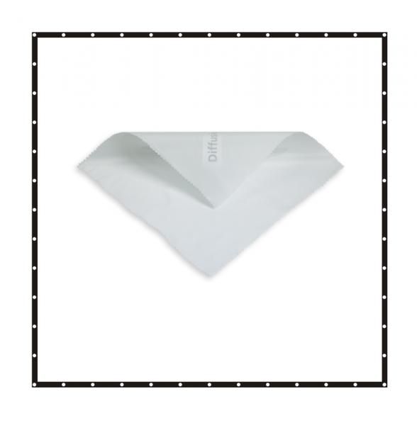 Sunbounce SCREEN BUTTERFLY/OVERHEAD SCRIM WHITE ARTIFICIAL SILK -2/3rd neutral -Struktur: -2/3 Blendenverlust, reduziert den Kontrast stark