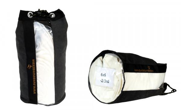 """Sunbounce SCREEN SAVER MITTEL Schutztasche Schwarz mit Sichtfenster Front+Boden 52x36cm / 20""""x14"""""""