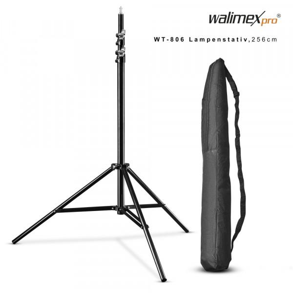Walimex pro WT-806 Lampenstativ 256cm mit Federdämpfung
