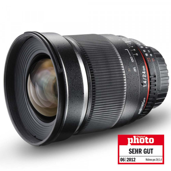 Walimex pro 24mm F1,4 DSLR Objektiv für Canon EF / EF-S (Samyang)
