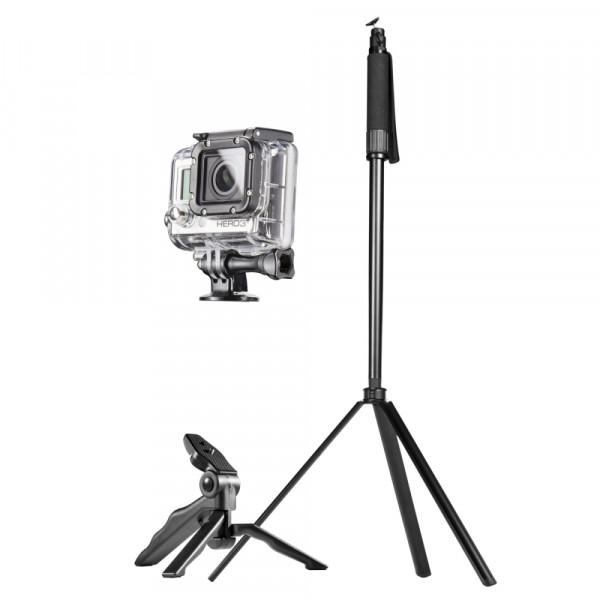 Mantona Reisestativ Set für GoPro