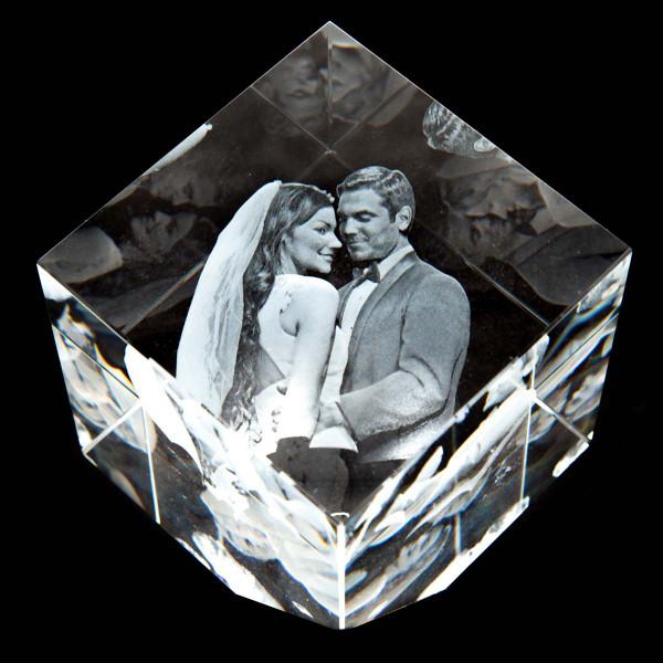 3D Laser Foto Precious aus Viamant Glas (XL)