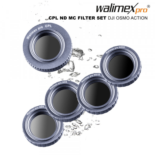 Walimex pro Filter Set DJI OSMO Action CPL/ND MC