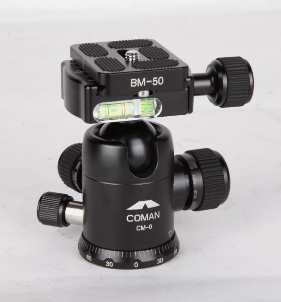 Coman CM-0 Kugelkopf mit Schnellwechselplatte