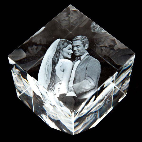 3D Laser Foto Precious aus Viamant Glas (M)