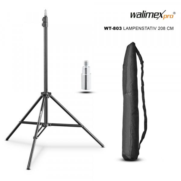 Walimex pro WT-803 Lampenstativ 208 cm inkl. Tasche und Adapter