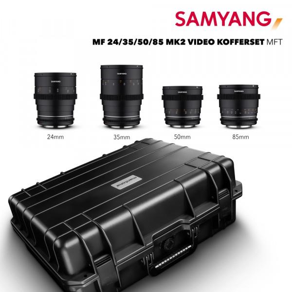 Samyang MF 24/35/50/85 MK2 VDSLR Kofferset MFT