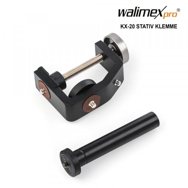 Walimex pro KX-20 Stativ Klemme mit Mittelsäule
