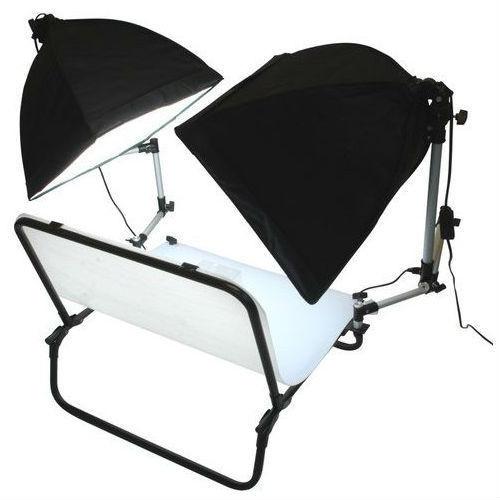 Aufnahmetisch Kit mit 2 x Tageslichtleuchten 60x100 cm als B-Ware