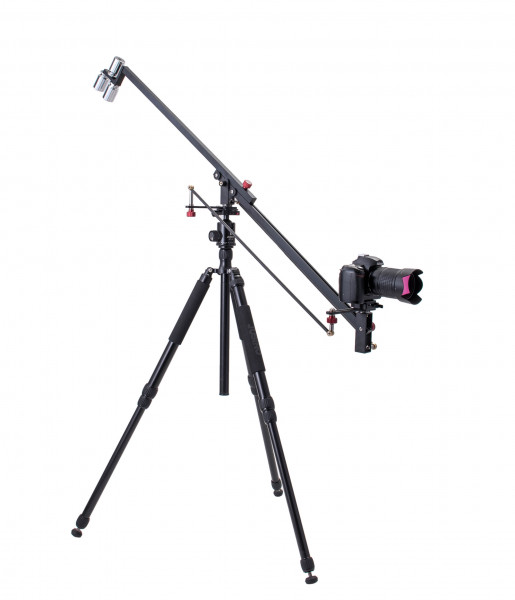 Jusino AT-6011 Kamerakran aus Aluminium und Carbon Fiber Rocker Arm für DSLR Video