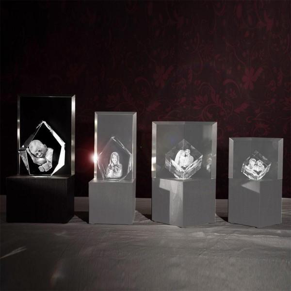Leuchtstele für 3D Laser Viamantglas Illuminato Eisberg XXL Dekor Ceramic Wood