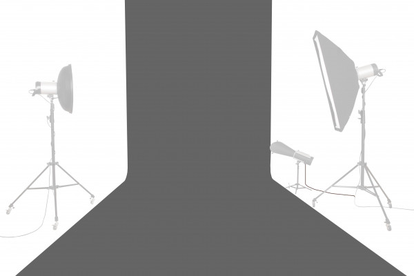 Tetenal Hintergrundkarton 1,35x11m, Charcoal