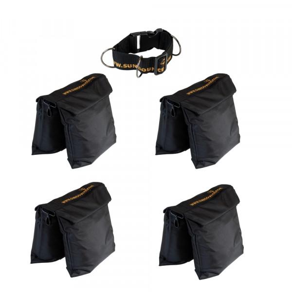 Sunbounce SANDSACK KIT: 4 Sandsäcke (ungefüllt) und 1 Adapter