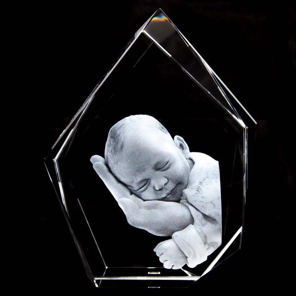 3D Laser Foto Eisberg aus Viamant Glas