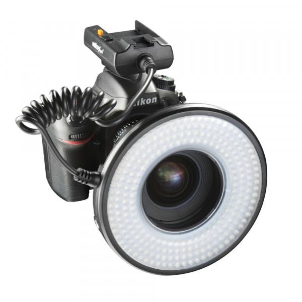 Walimex pro Macro LED Ringlicht DSR 232 Set inkl. NPF-550 Akku und Ministativ