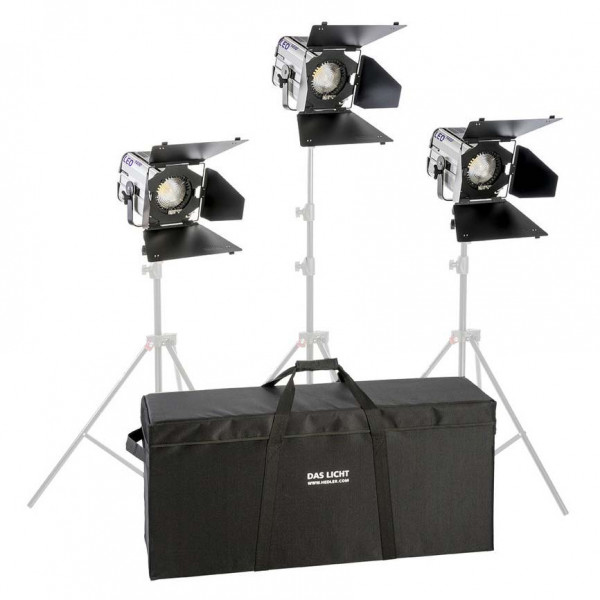 HEDLER Profilux LED 1400 Triple Kit ohne Stative (fokusierbar, dimmbar)