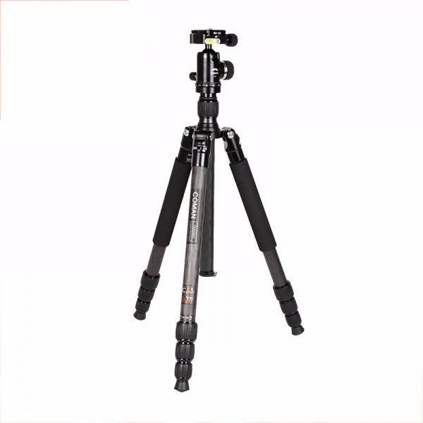 Coman TM256C+C0 Carbon Fotostativ Set mit Kugelkopf 155 cm