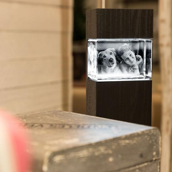 Leuchtstele für 3D Laser Viamantglas Mega Querformat