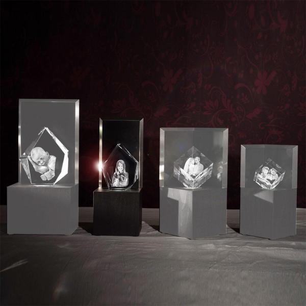Leuchtstele für 3D Laser Viamantglas Illuminato Eisberg
