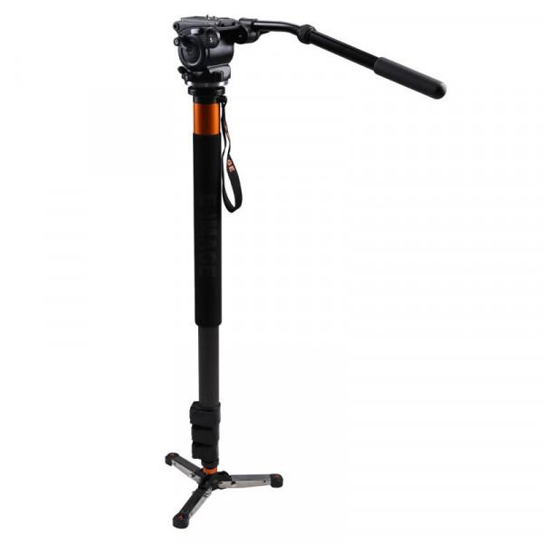 E-IMAGE MC70 (MC50+EI02H) Einbeinvideostativ aus Carbon mit Fluidkopf - B-Ware