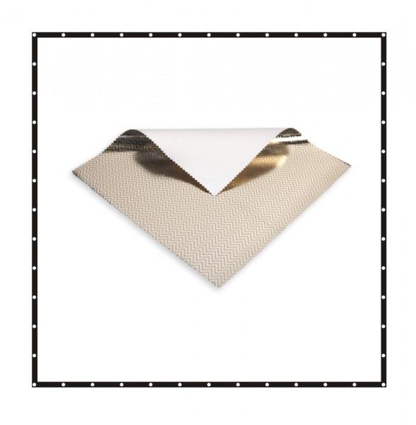 Sunbounce SCREEN BUTTERFLY/OVERHEAD 2-in-1 REFLECTOR ZEBRA LAME leicht warm - Struktur: 50% Gold glatt+ 50% Silber glatt - Rückseite Weiß matt