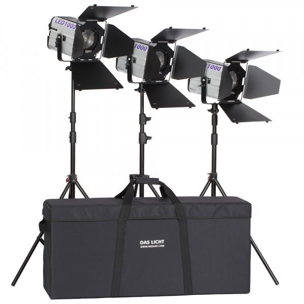 HEDLER Profilux LED 1000 Triple Kit (fokusierbar, dimmbar)