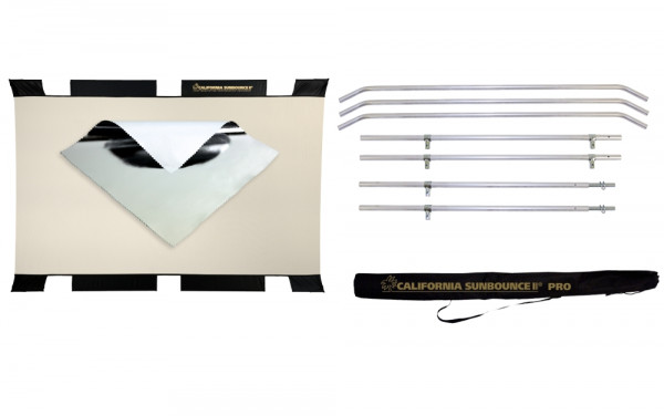 Sunbounce SUN-BOUNCER KIT SILVER / WHITE neutral -Struktur: Silber glatt - Rückseite Weiß matt