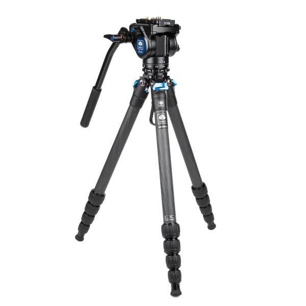 SIRUI Traveler VC - Drei-/ Einbeinstativ Carbon mit Videokopf VA-5