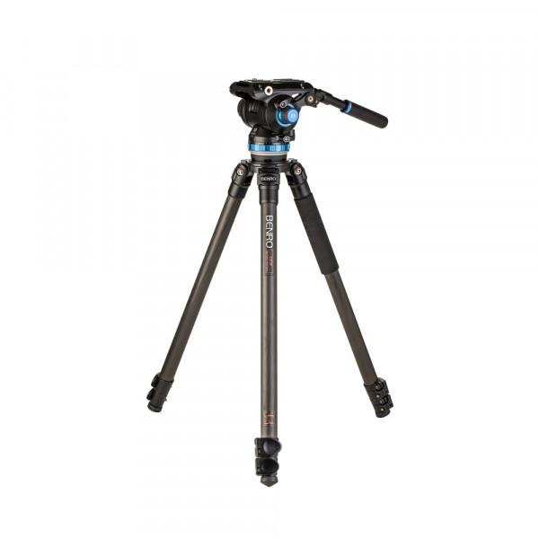 Benro Videostativ Kit C373F Carbon inkl. Videoneiger S8Pro (75mm Schale)