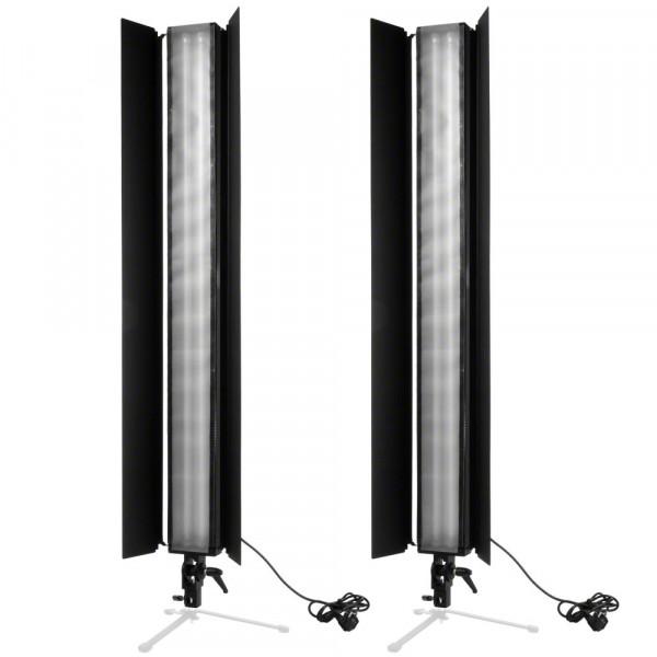 Walimex 2er Set Daylight Stripe 110W Abschirmklap.
