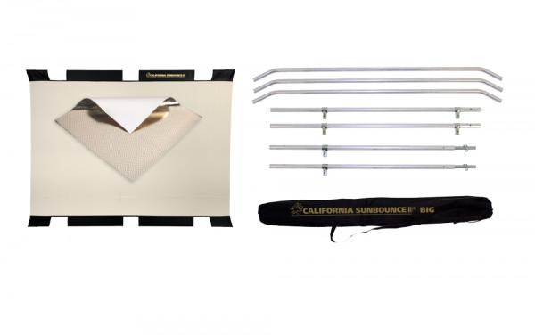 Sunbounce SUN-BOUNCER KIT ZEBRA / WHITE leicht warm - Struktur: 50% Gold glatt + 50% Silber glatt - Rückseite Weiß matt