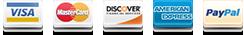 We accept PayPal, VISA, MasterCard, Ammex, discover, debit, cash and EC-cash